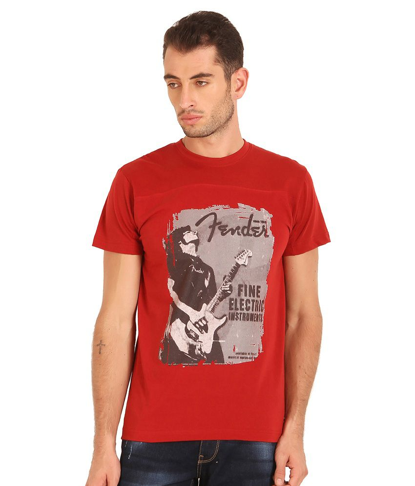 Sting Red Cotton Blend T Shirt
