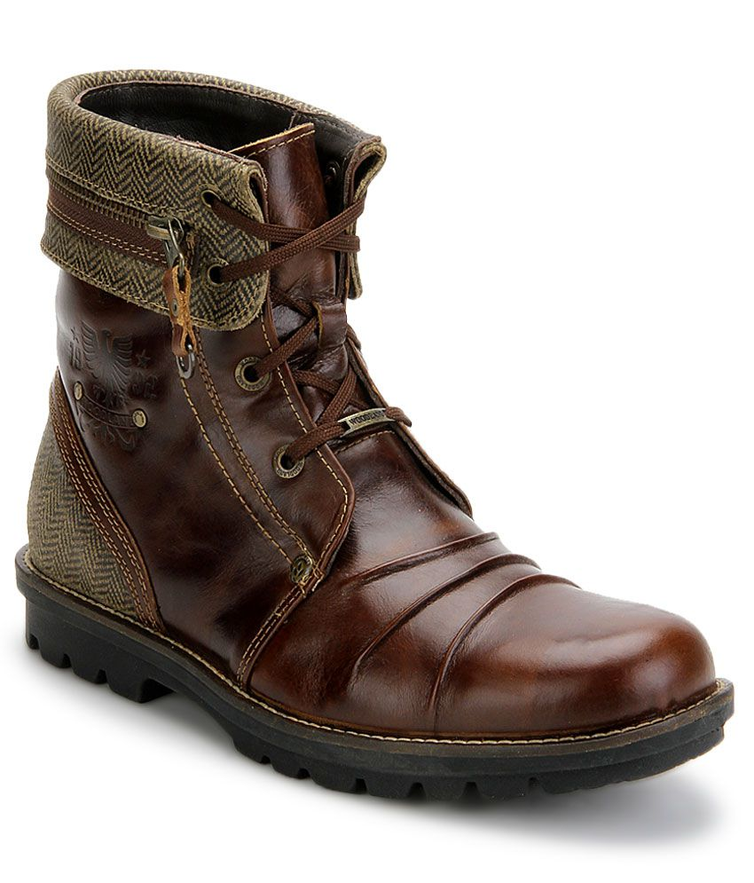 Woodland Brown Boots - Buy Woodland Brown Boots Online at ...