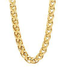 Anvi Jewellers 18ct Gold And Rodium Coated Chain