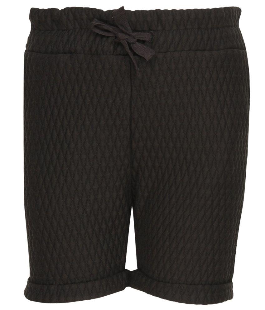 Milk Copenhagen Black Polyester Shorts