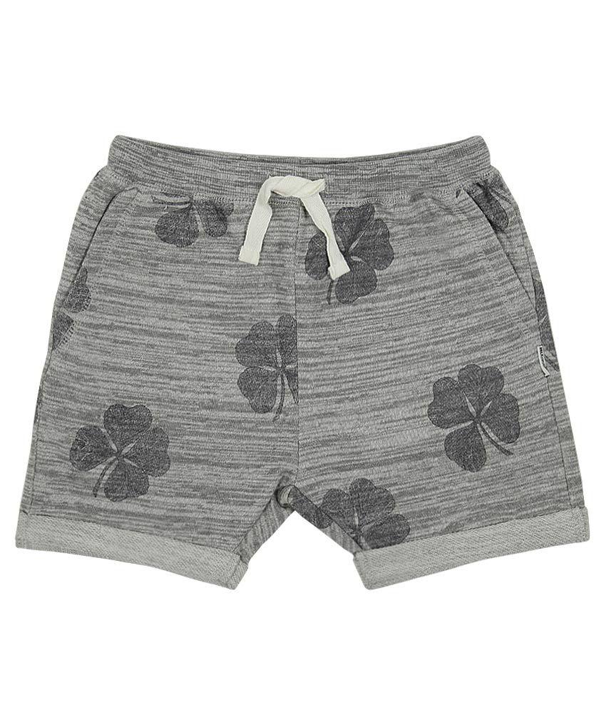 Milk Copenhagen Gray Printed Shorts