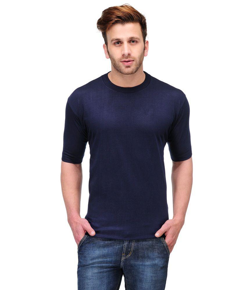 Rajputana Brothers Navy Cotton T-Shirt
