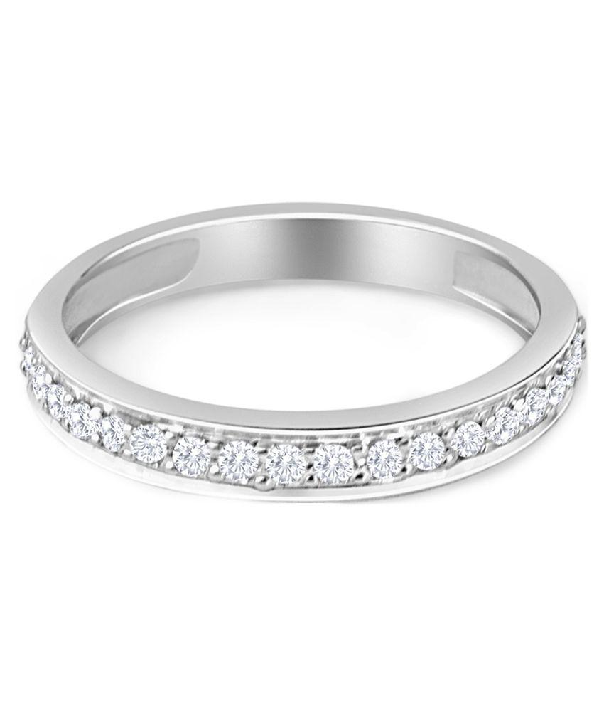HBZ Diamond Fashion 18Kt White Gold Ring