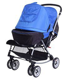 Mee Mee Baby Pram with Rocker and 3 Seating Positions_Blue