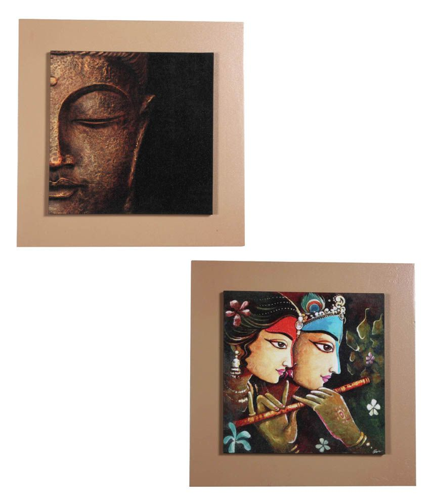 AVE Wood Wall Framed Painting - Buy 1 Get 1 Free