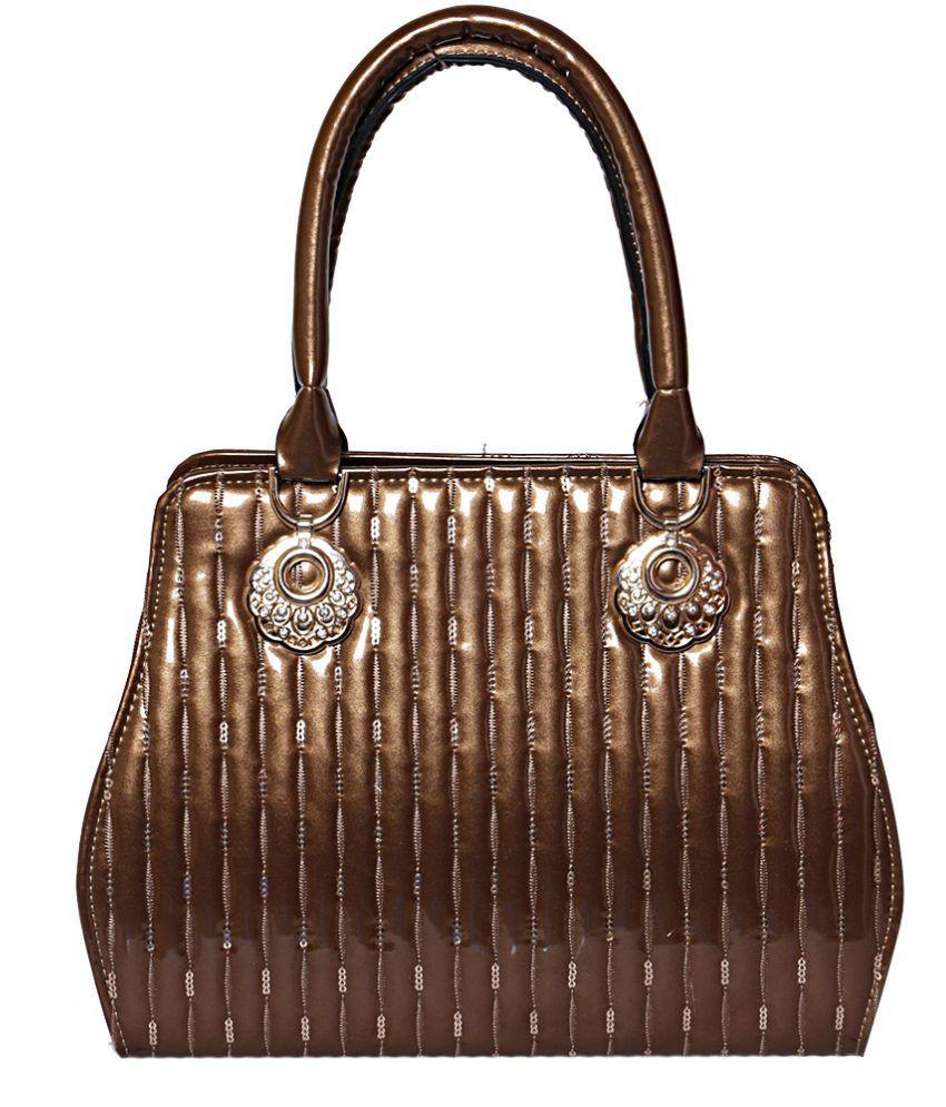 Unique Collections Brown Non Leather Shoulder Bag