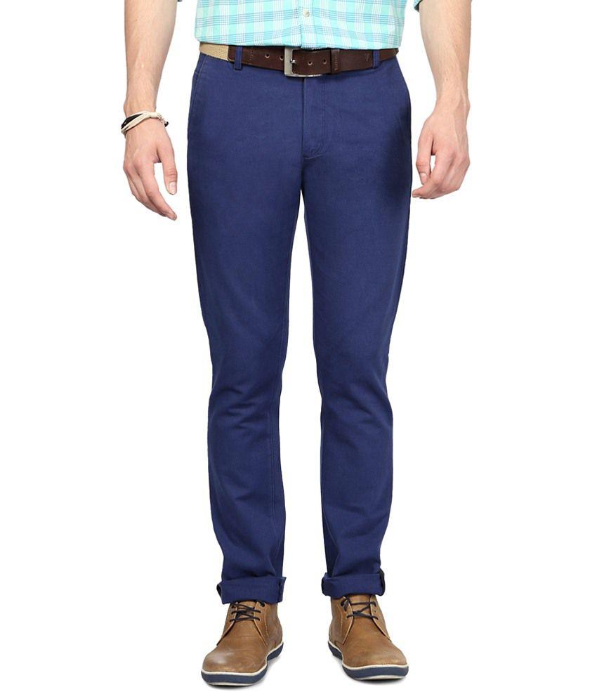 Allen Solly Modish Blue Trouser for Men