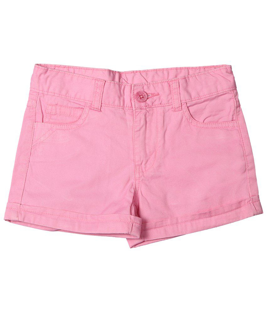 Chalk by Pantaloons Pink Shorts for Girls