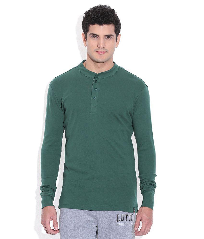 Lotto Green Henley T-Shirt