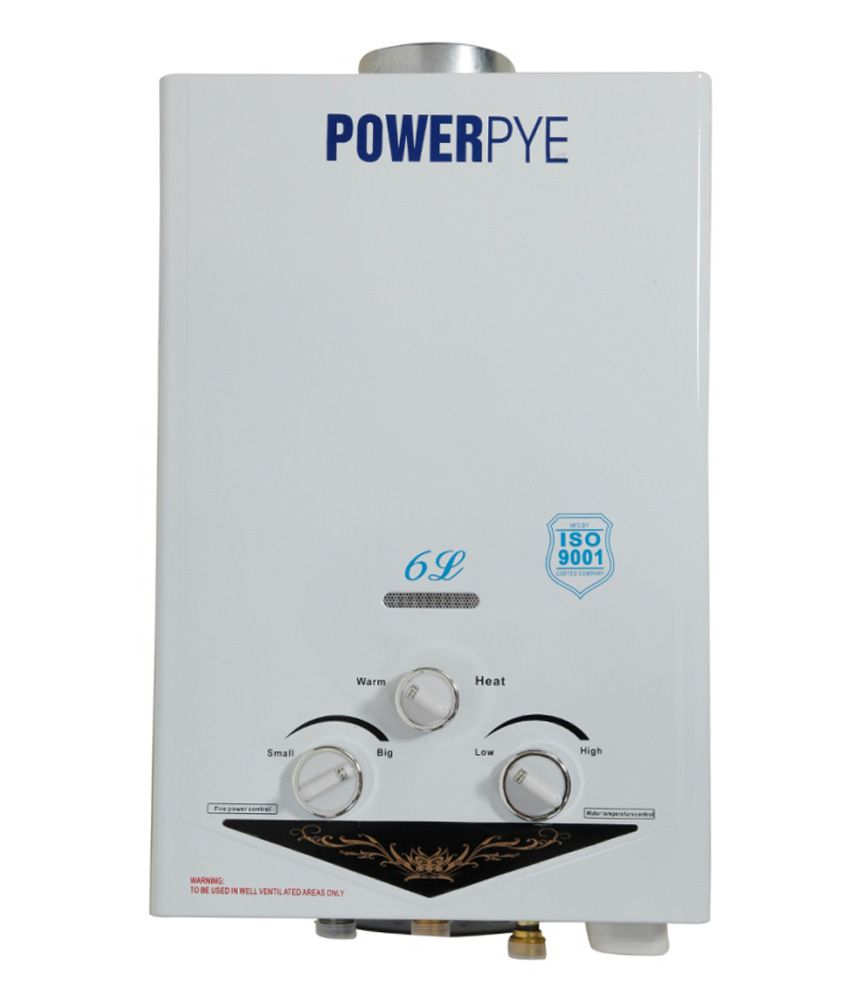 Powerpye 6 Litre Copper Gas Geyser White (LPG) With Zero ...