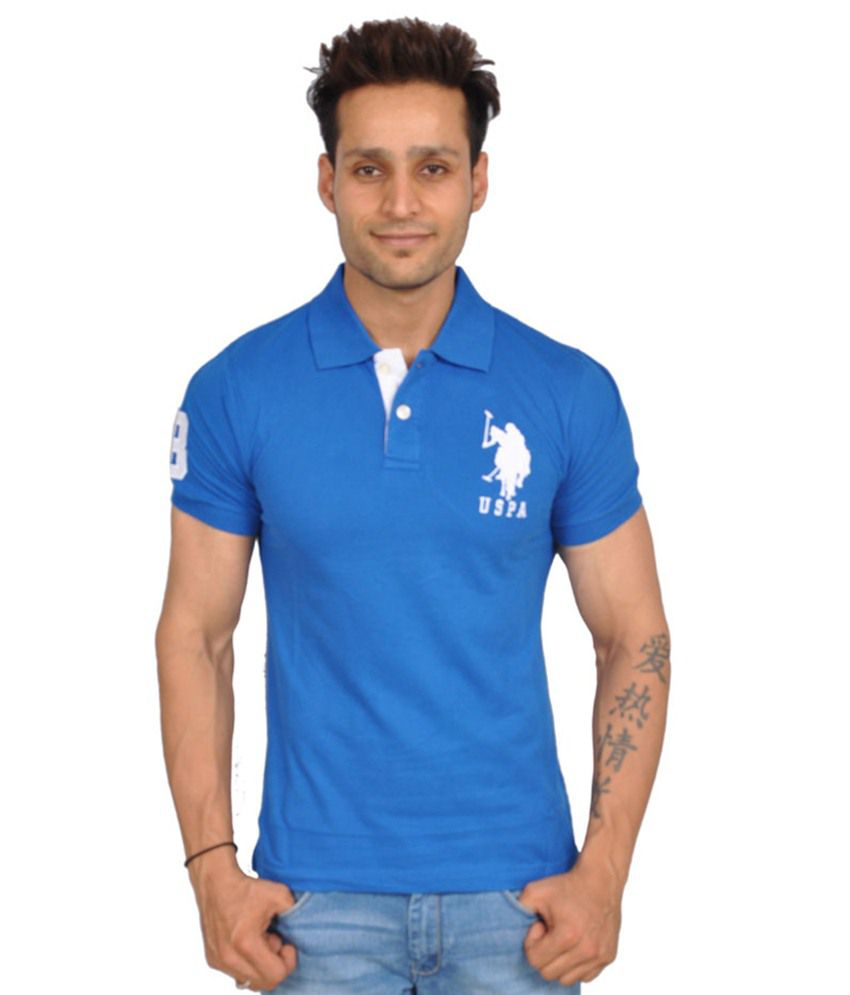 U S Polo Assn Men Royal Blue Polo T Shirt Buy U S