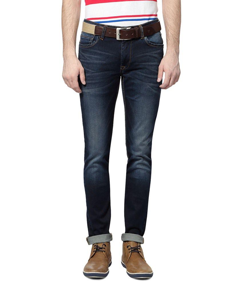 Van Heusen Navy Blue Jeans for Men