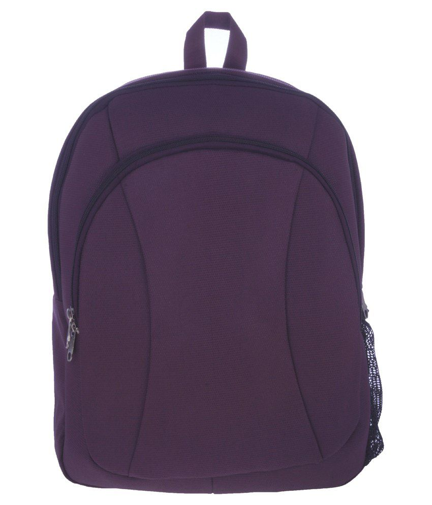 Bags.R.Us Purple Polyester Laptop Bag