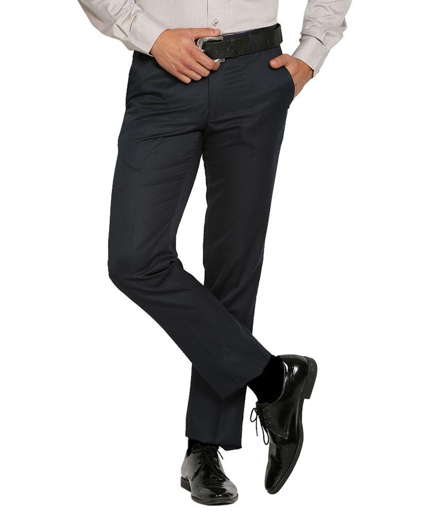 Black Coffee Navy Regular Fit Trousers
