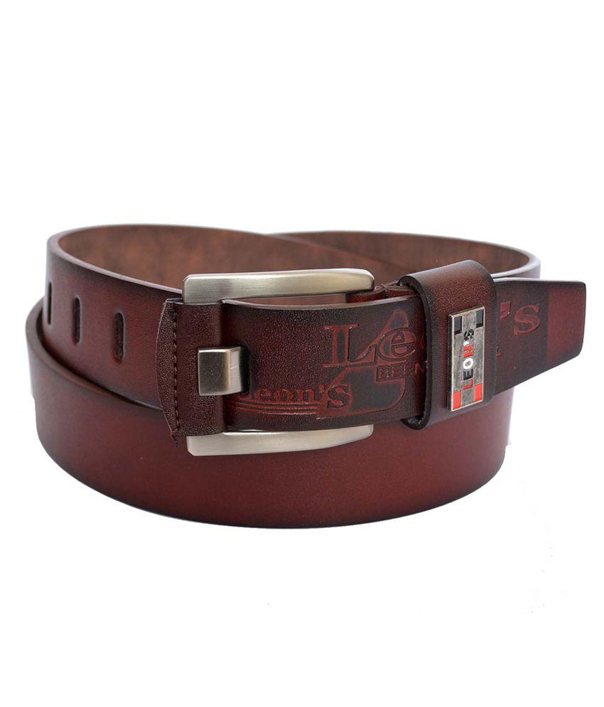 Double F Men's Casual Brown Belt