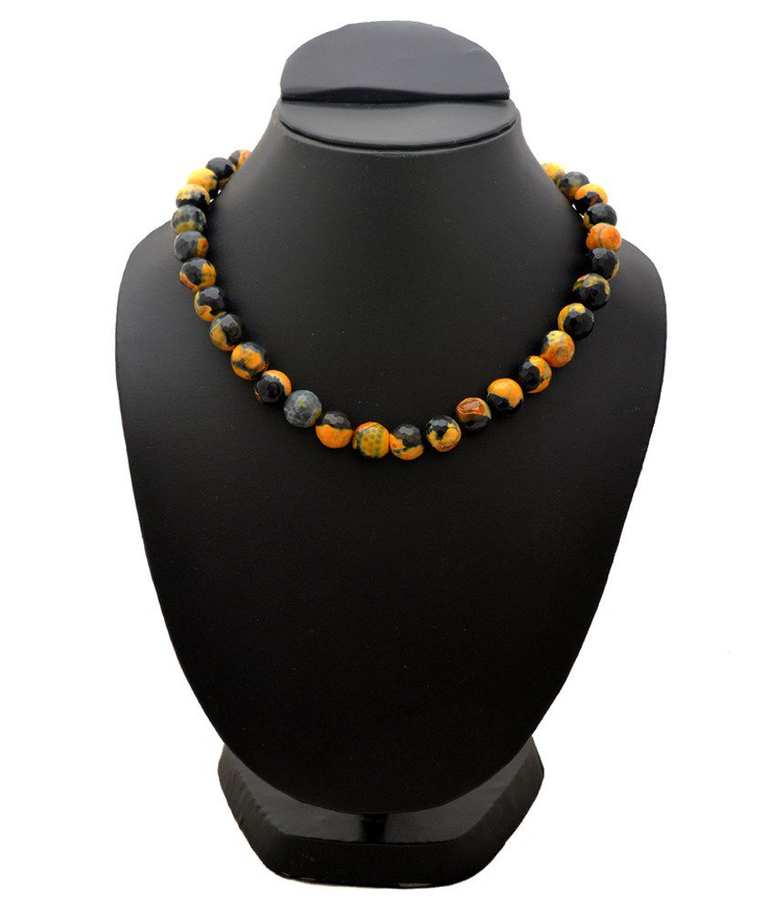 Gemzz And Jewels Black & Yellow 9Kt Necklace
