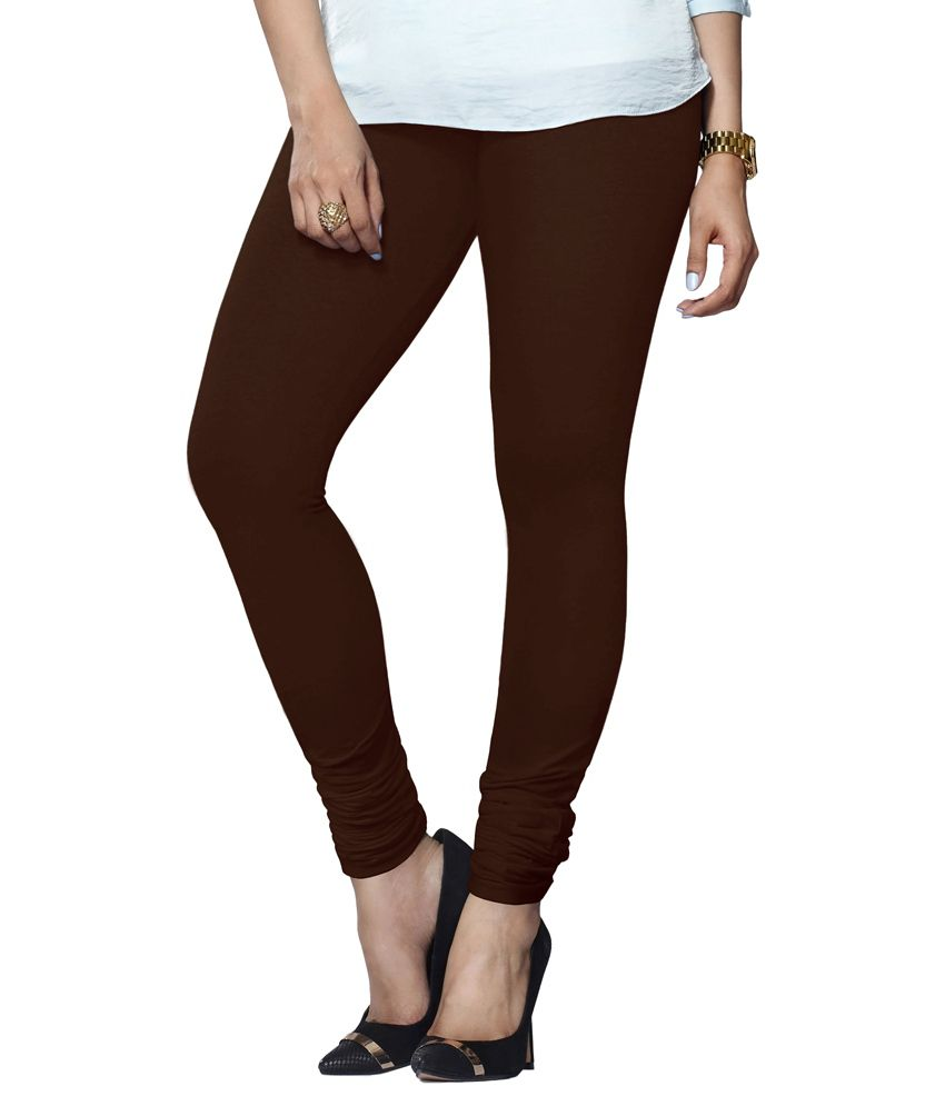 a93483c56b20f Buy Lux Lyra Brown Cotton Leggings Online at Best Prices in India - Snapdeal