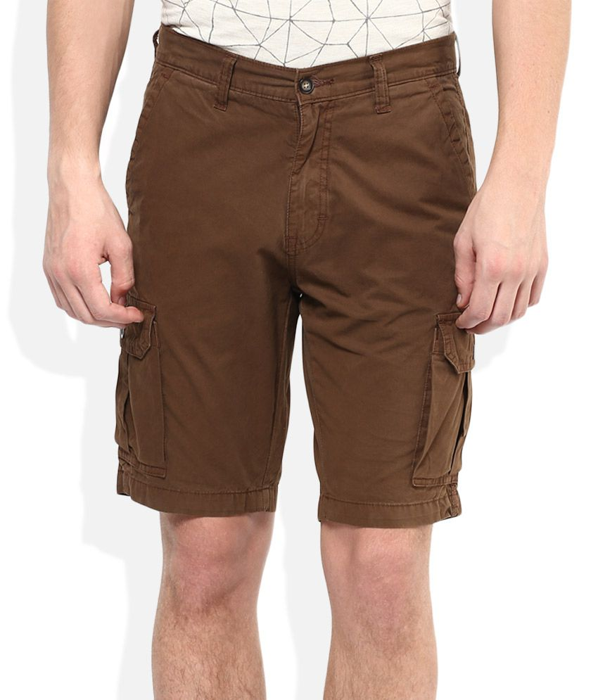 American Swan Brown Solids Shorts