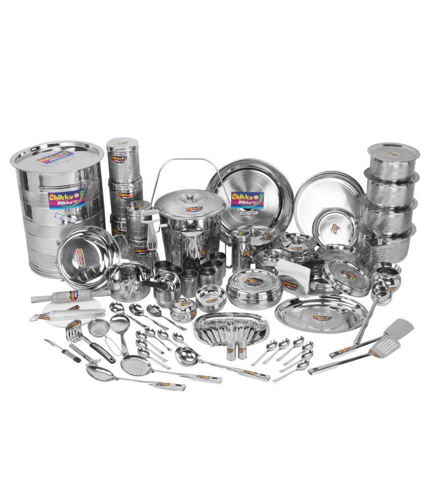 Chikkumikku Stainless Steel Kitchen Set: Buy Online at Best ...
