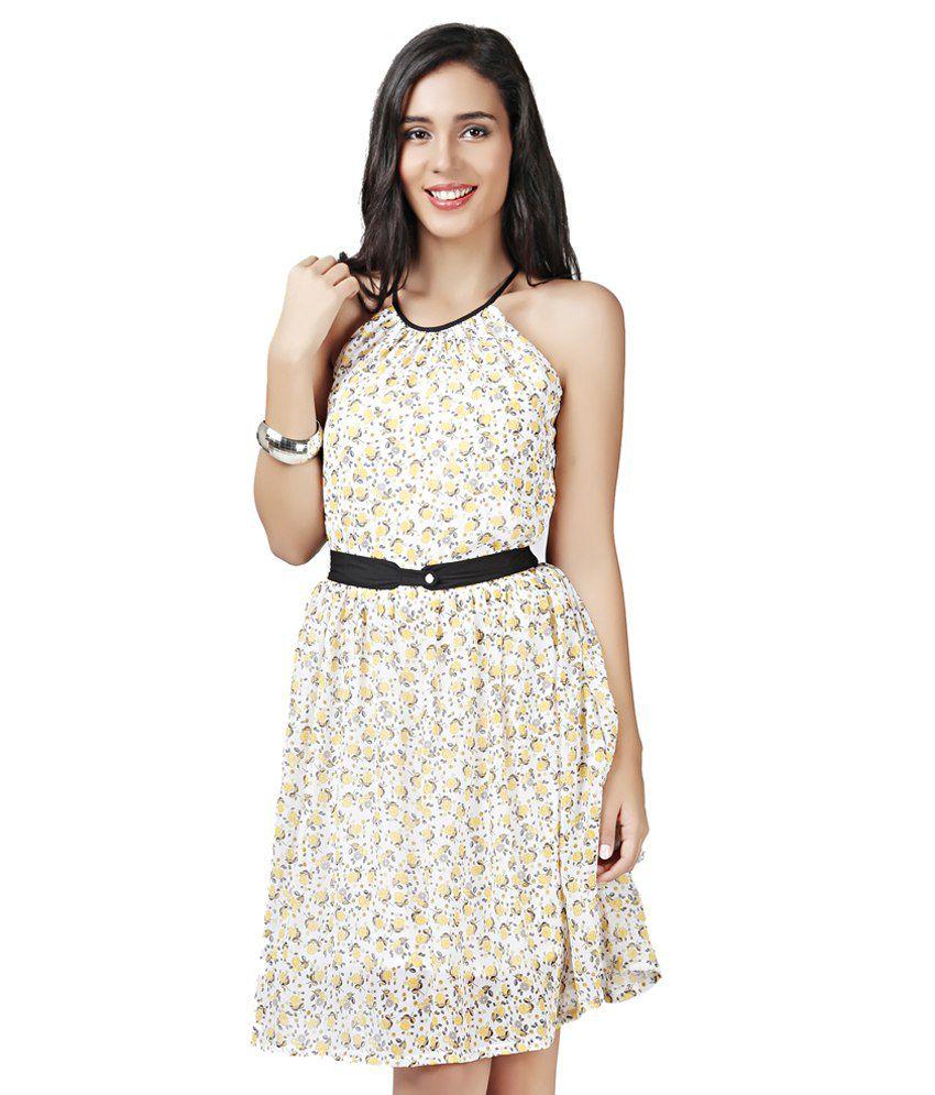 Eavan Printed Fit Flare Dress Price At Flipkart Snapdeal