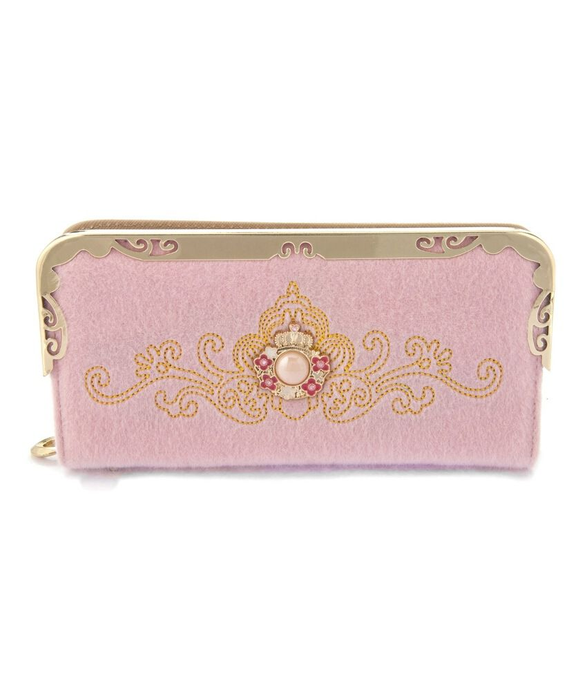 Iva Polyester Pink Regular Clutch For Women