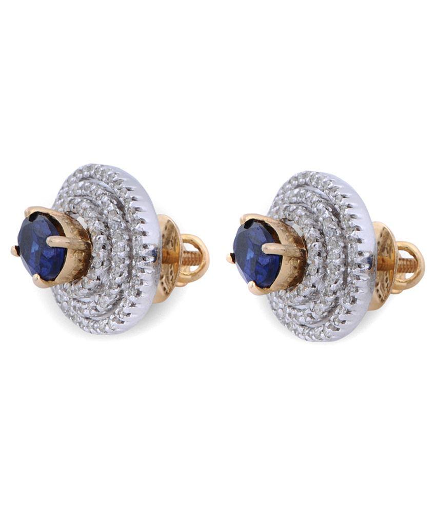 Khurana Jewellery House 14kt Gold Stud Earring