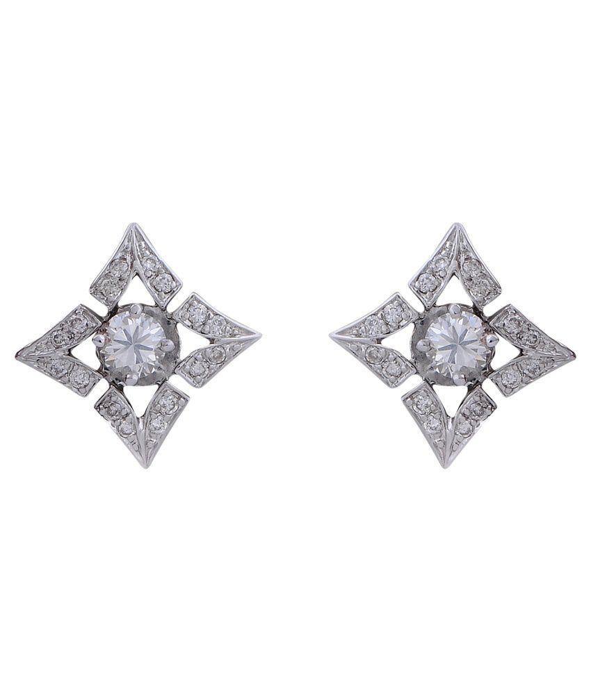Khurana Jewellery House 18Kt Gold Stud Earring