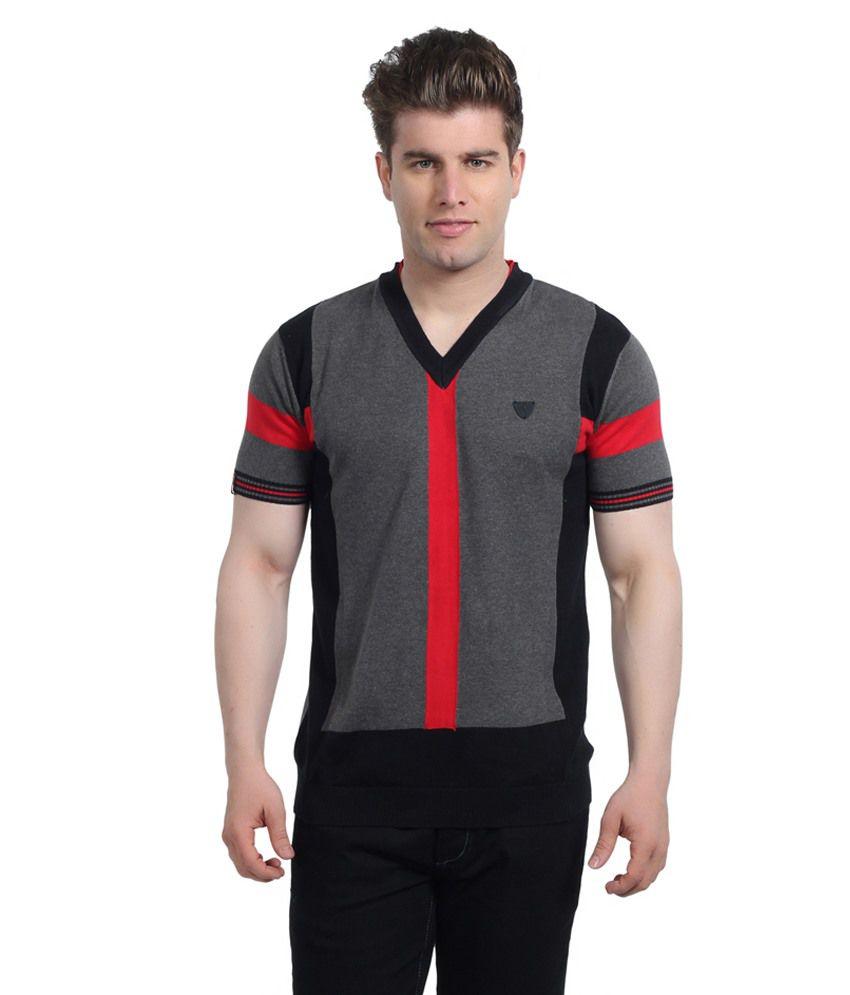 Stride Black Cotton T-Shirt