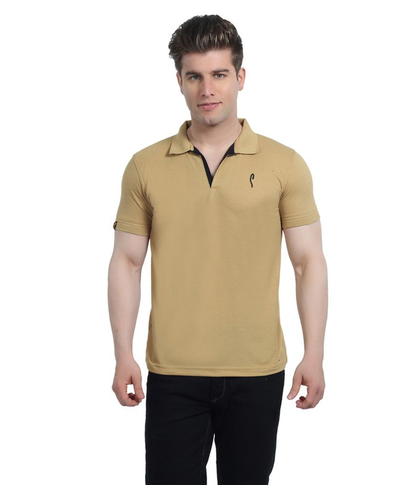 Stride Brown Cotton T-Shirt