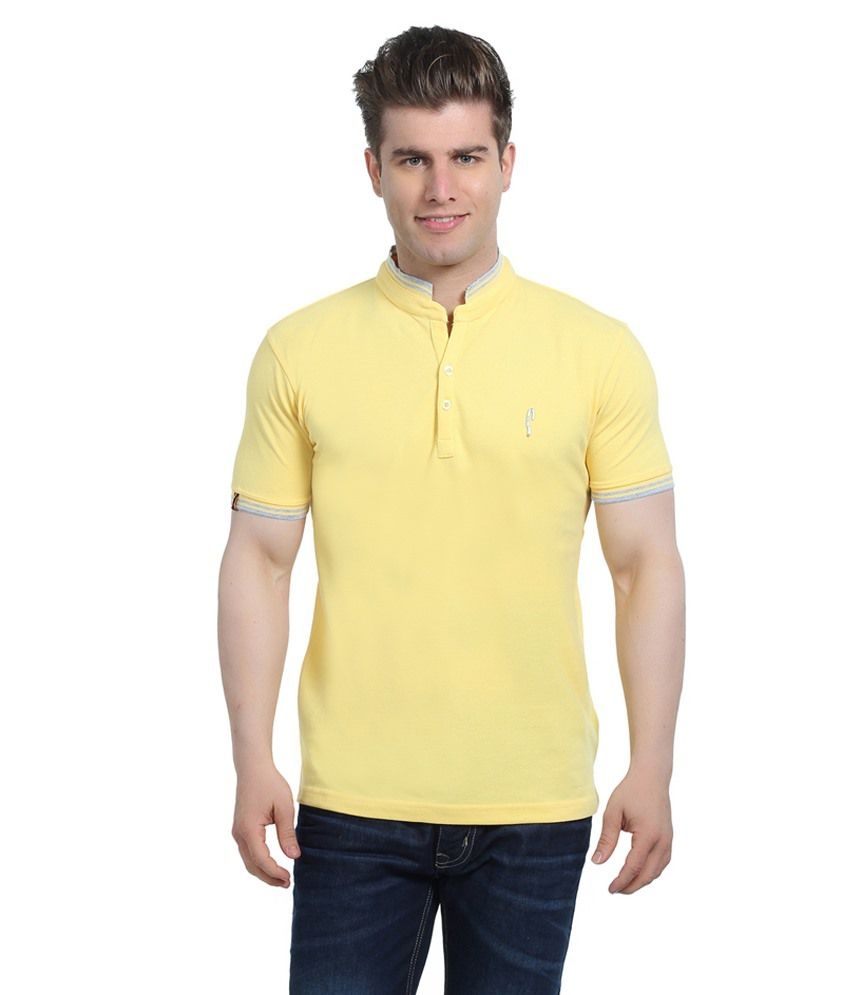 Stride Yellow Cotton T-Shirt