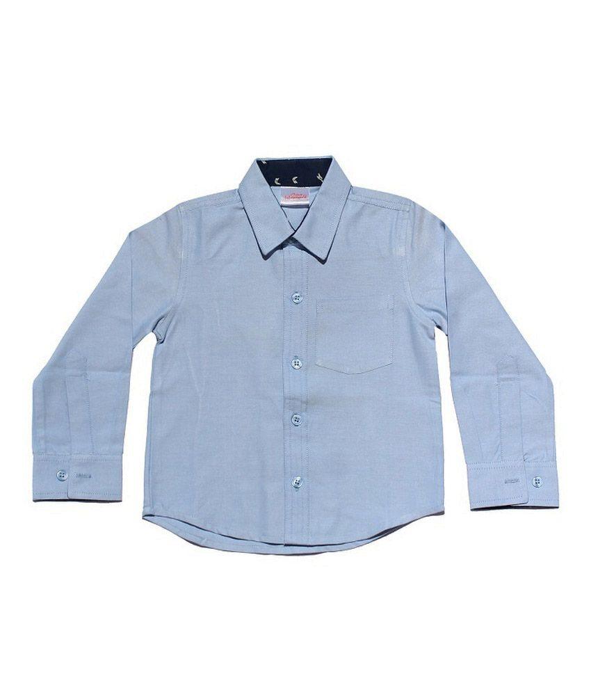 Babeezworld Sky Blue Cotton Shirt Buy Babeezworld Sky