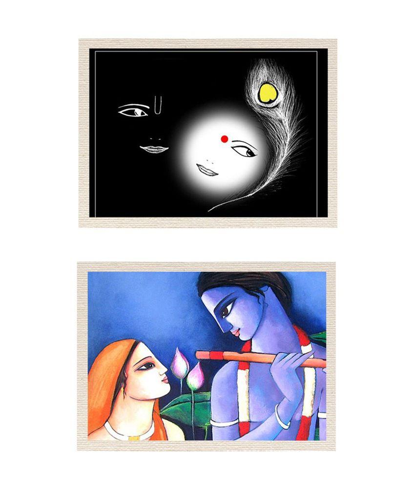 MeSleep Radha Krishna Canvas Painting without Frame - Combo