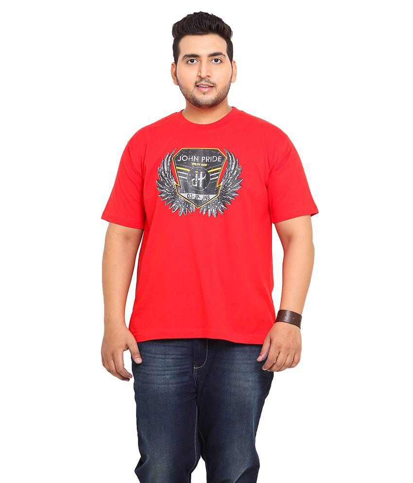 John Pride Red Cotton T-Shirt