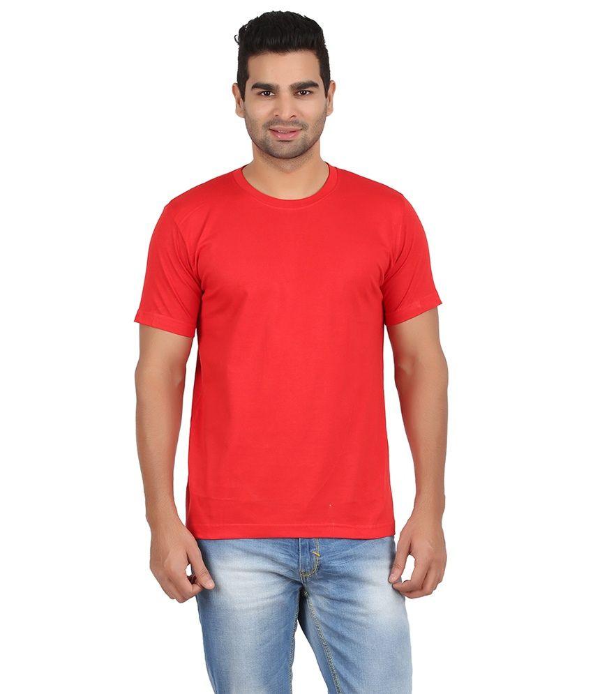 Starx Red Cotton Blend T Shirt