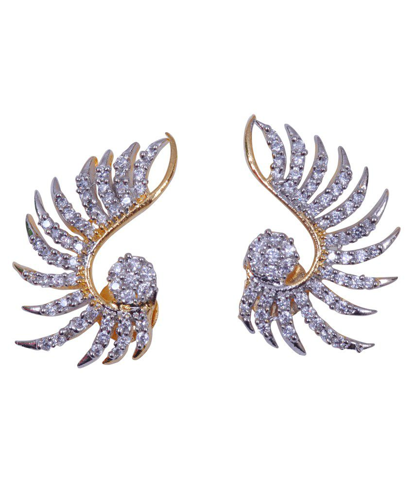 Enhance Gold American Diamond Earrings