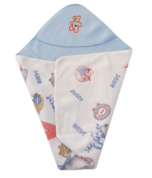 Cute Baby Blue Cotton Angry Birds Baby Wrap