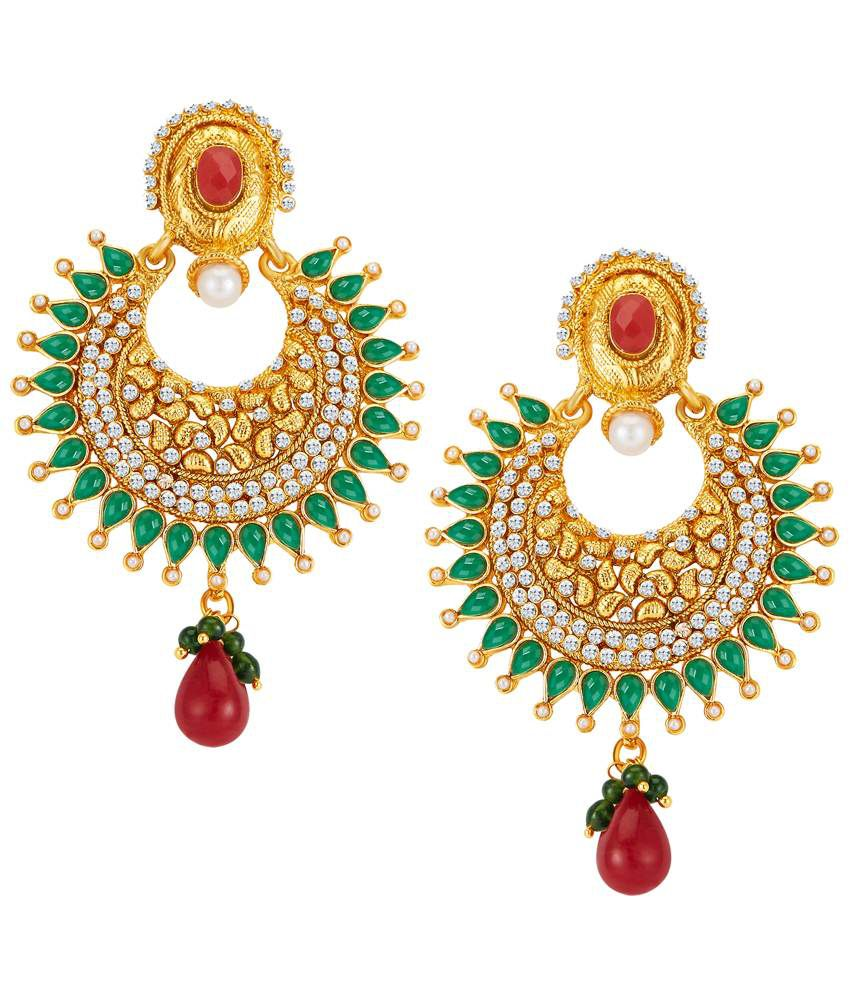 Sukkhi Magnificent Gold Plated Hanging Earrings