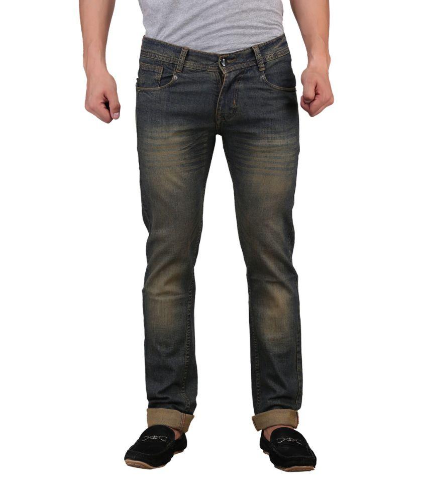 X-CROSS Black Cotton Blend Regular Fit Jeans