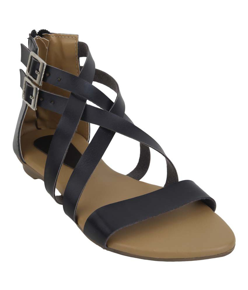 Glitzy Galz Black Sandal