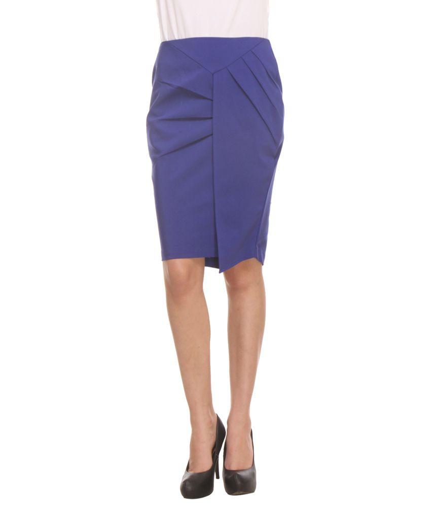 buy kaaryah blue pencil skirt at best prices in
