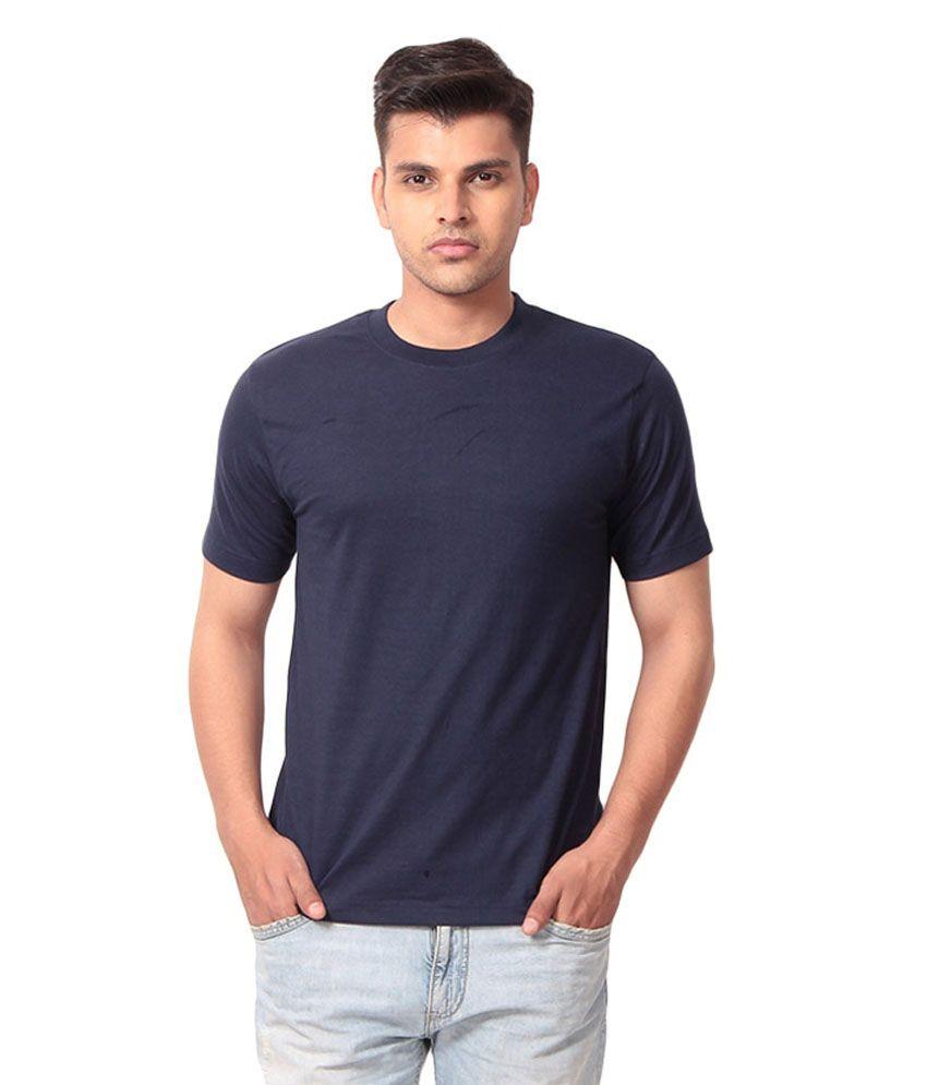 Malaabis Designz Navy Cotton T Shirt For Men