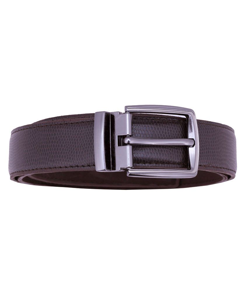 Osaiz Brown Leather Pin Buckle Formal Belt For Men