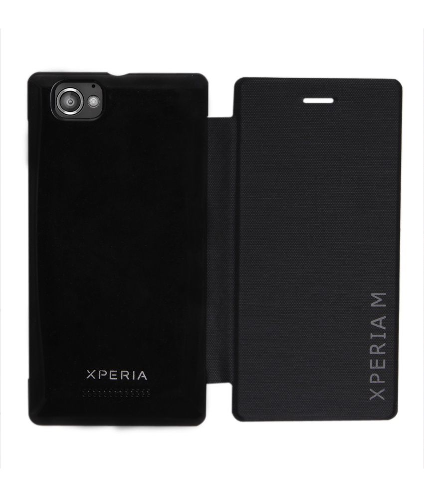 sports shoes 6fbb4 af5cd Rdcase Flip Cover For Sony Xperia M - Black