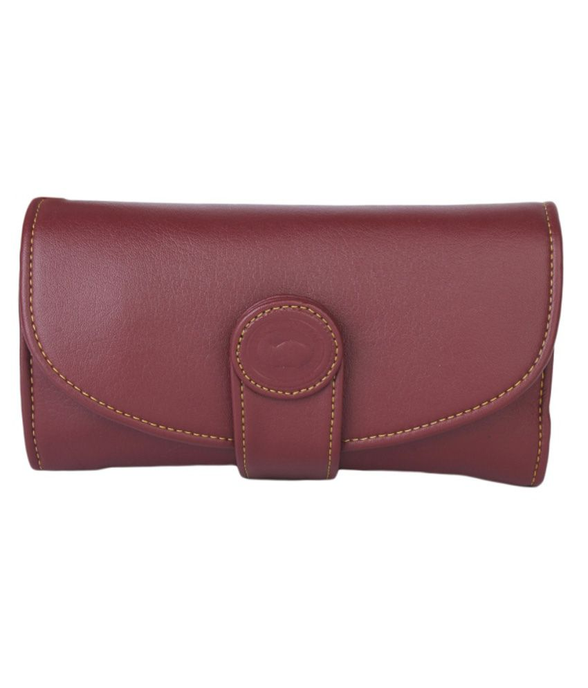 Classic Maroon Formal Wallet For Women
