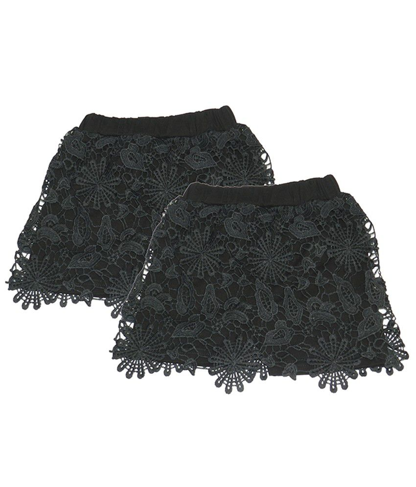 Rapchik Kid Black Shorts For Girls