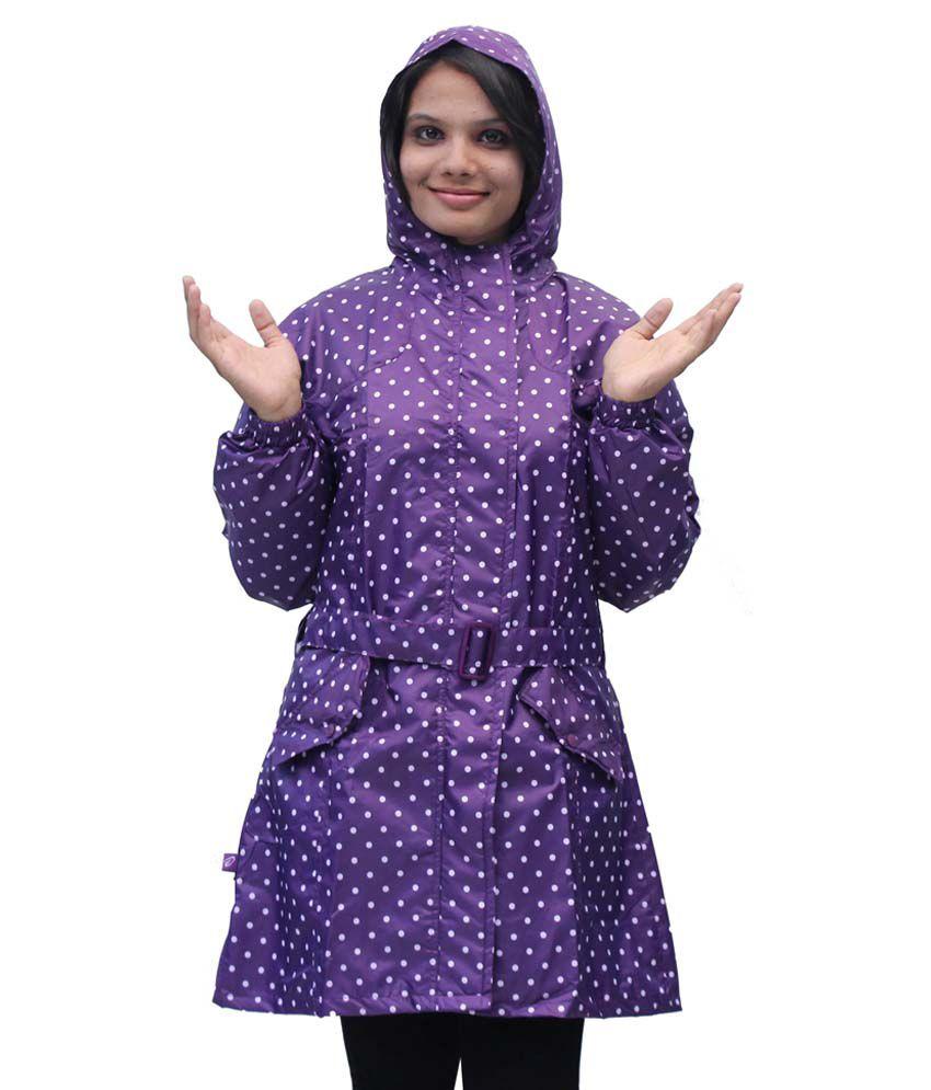 Romano Women'S Purple Monsoon Rain Overcoat