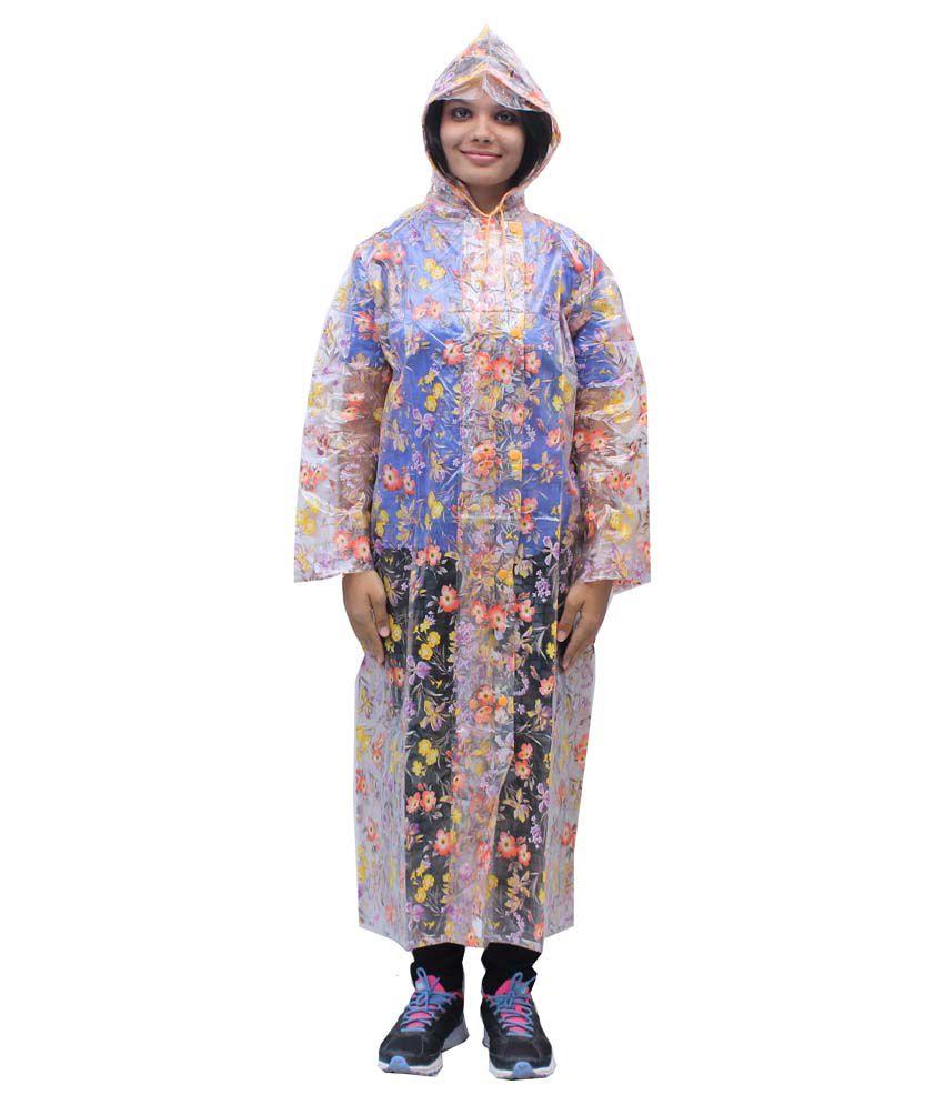 Romano Women'S Transparent Rainwear Windcheater Overcoat