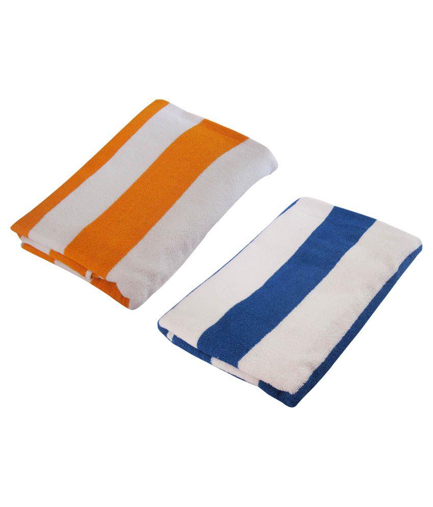 smart home set of 2 cotton towels multi color buy. Black Bedroom Furniture Sets. Home Design Ideas