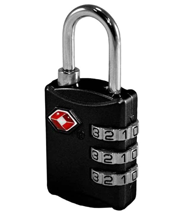 Tsa Black Luggage Lock