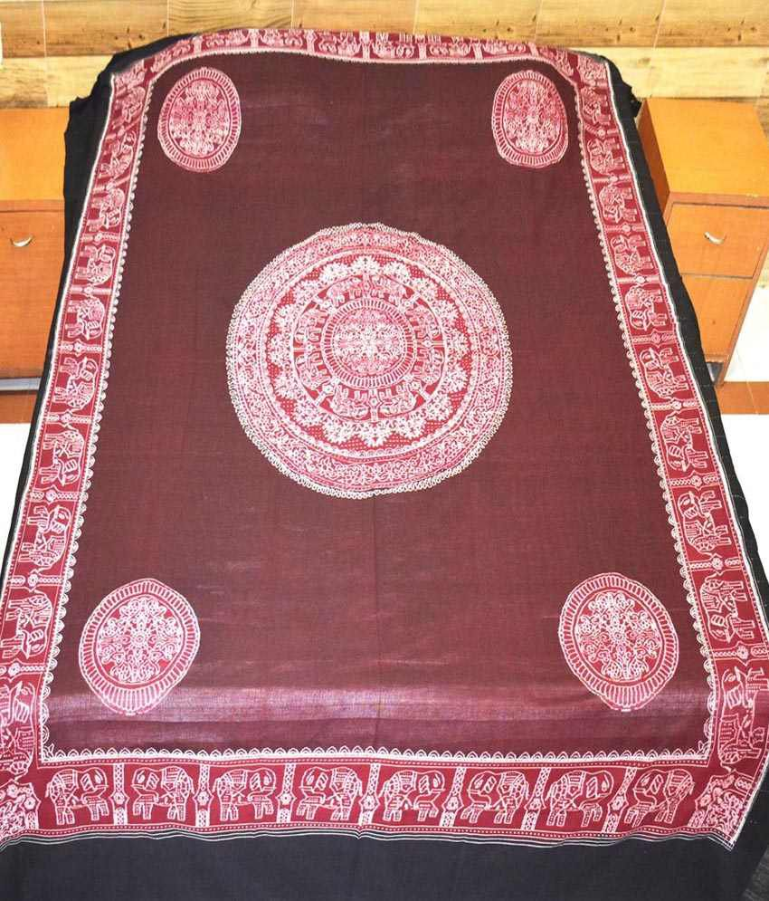 Utkalika Red & Pink Double Bedsheet with 2 Pillow Covers